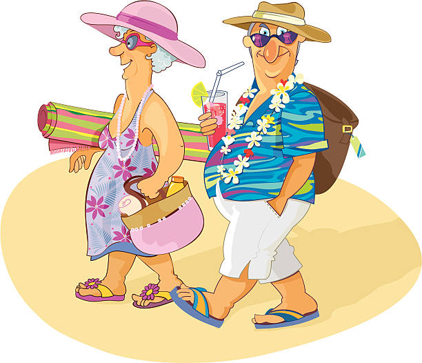 Sweet Senior Couple having a Beach Vacation
